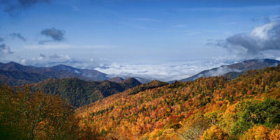 Photograph - Smoky Mountain Fall View by Shari Jardina
