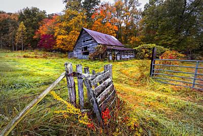 Smoky Mountain Farm Gate Art Print