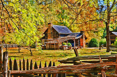 Smoky Mountain Homestead Art Print by Kenny Francis