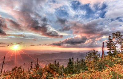 Smoky Mountain Lookout Art Print