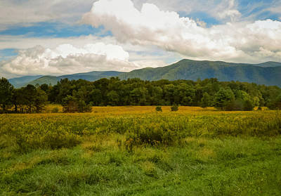 Photograph - Smoky Mountain Range by Cindy Haggerty