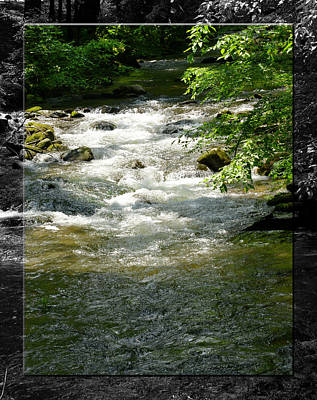 Photograph - Smoky Mountain Stream - B by Robert Clayton
