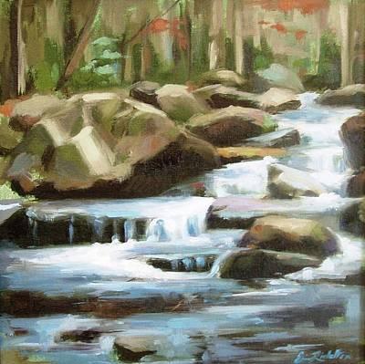 Gatlinburg Painting - Smoky Mountain Stream by Erin Rickelton