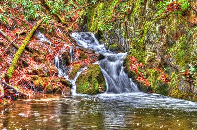Photograph - Smoky Mountain Stream Hdr by Mark Bowmer