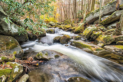 Photograph - Smoky Mountain Stream 4 by Victor Culpepper