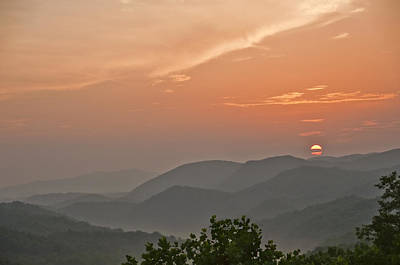 Photograph - Smoky Mountain Sunrise by Barry Cole