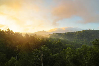 Photograph - Smoky Mountain Sunrise by Cindy Haggerty