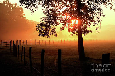 Smoky Mountain Sunrise Art Print by Douglas Stucky