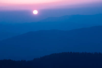 Art Print featuring the photograph Smoky Mountain Sunrise by Jay Stockhaus