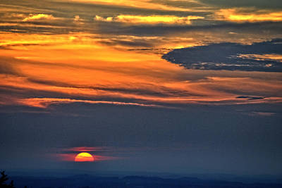 Photograph - Smoky Mountain Sunset 1 by George Taylor