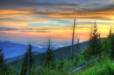 Photograph - Smoky Mountain Sunset by Mark Bowmer