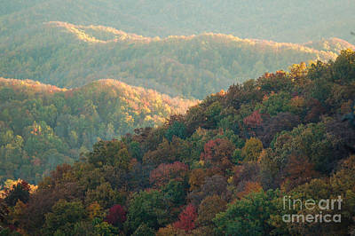 Art Print featuring the photograph Smoky Mountain View by Patrick Shupert