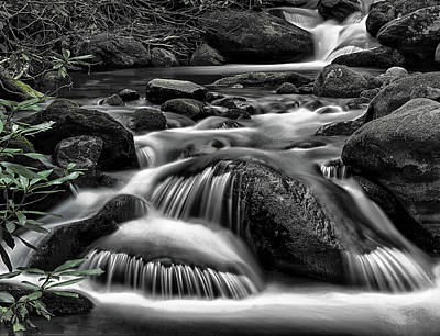 Photograph - Smoky Mountains Cascades by Donald Brown