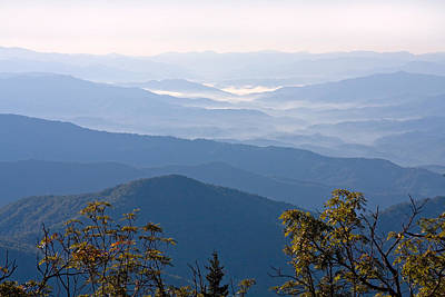 Photograph - Smoky Mountains From Clingmans Dome by Melinda Fawver