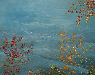 Painting - Smoky Mountains In Autumn by Judith Rhue