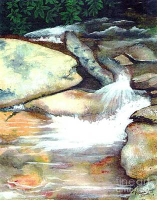 Smoky Mountains Waterfall Art Print by Patricia Griffin Brett