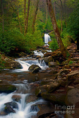 Photograph - Smoky Mtn Stream - 024 by Paul W Faust -  Impressions of Light