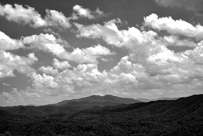 Smoky Peaks And Sky 2 Art Print