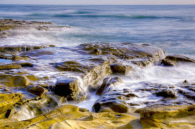 Smoky Rocks Of La Jolla Art Print