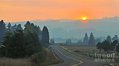 Photograph - Smoky Sunset  by Mindy Bench