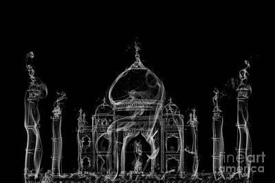 Tajmahal Digital Art - Smoky Taj Mahal by Image World