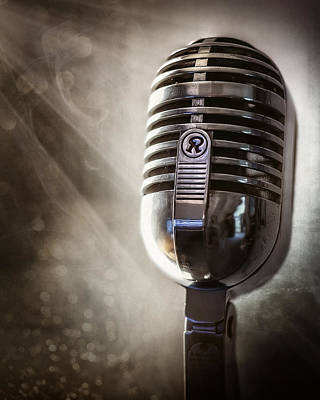 Performance Photograph - Smoky Vintage Microphone by Scott Norris