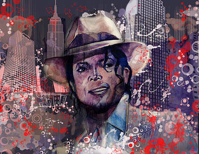 Jackson 5 Painting - Smooth Criminal by Bekim Art
