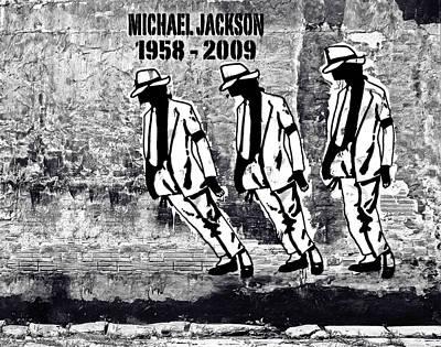 Smooth Criminal - Michael Jackson Tribute Art Print by Victor Cavalera