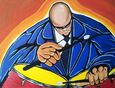 On Cavas Painting - Smooth Drummer by Donald Lyons