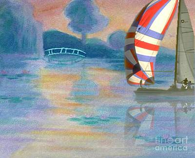 Painting - Smooth Sailing by Belinda Threeths