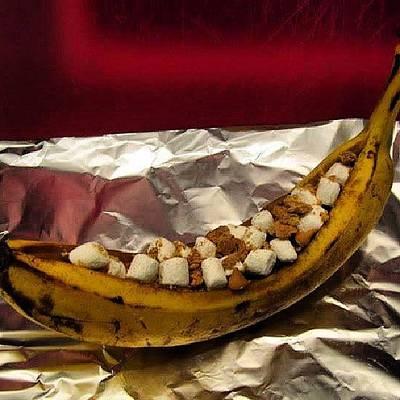 Banana Photograph - Smores Banana Boat #snack #bananas by Brandon Fisher