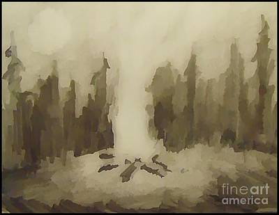 Nature Abstract Drawing - Smouldering by John Malone