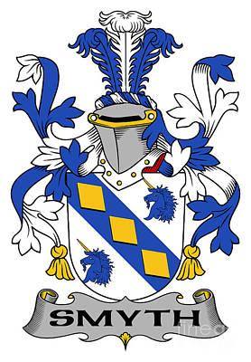Genealogy Digital Art - Smyth Coat Of Arms Irish by Heraldry