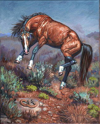 Kerry Nelson Painting - Sn Neigh Kk by Kerry Nelson