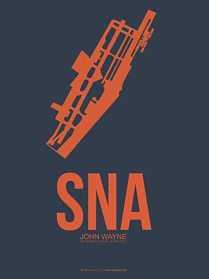Orange County Digital Art - Sna Orange County Airport Poster 1 by Naxart Studio