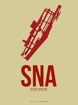 Orange County Digital Art - Sna Orange County Airport Poster 2 by Naxart Studio