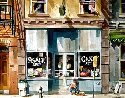 Candy Store Painting - Snack Break by Art Scholz