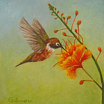 Desert Flower Painting - Snack Time by Roseann Gilmore