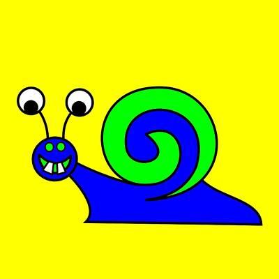 Digital Art - Snail-e-mail by Asbjorn Lonvig