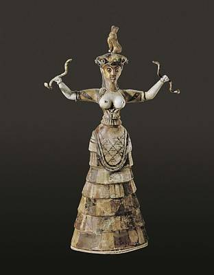 Minoan Photograph - Snake Goddess Or Household Goddess. Ca by Everett