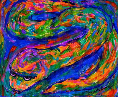 Painting - Snake In The Color by Kendall Kessler