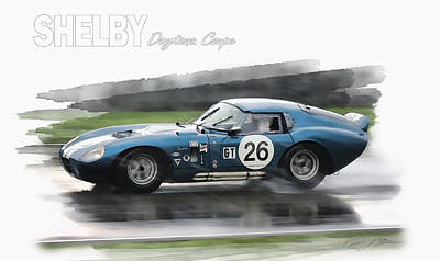 Race Car Mixed Media - Snake In The Rain by Peter Chilelli