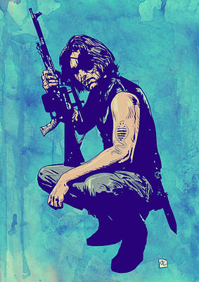 Science Fiction Drawing - Snake Plissken by Giuseppe Cristiano