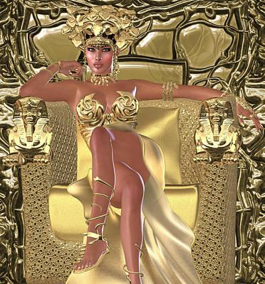 Worship Necklace Digital Art - Snake Queen by Timothy Kurtis