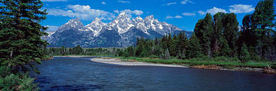 Snake River & Grand Teton Wy Usa Art Print by Panoramic Images