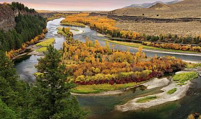 Cottonwood Photograph - Snake River Autumn by Leland D Howard