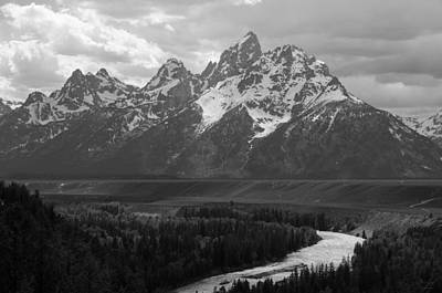 Photograph - Snake River Overlook - Black And White by Aaron Spong