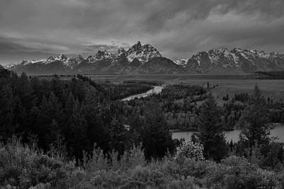 Photograph - Snake River Overlook Black And White I by Robert  Moss