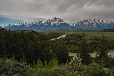 Photograph - Snake River Overlook Cloudy Day by Robert  Moss