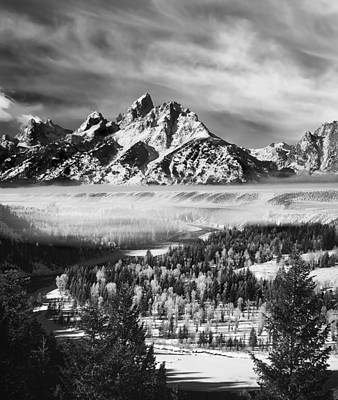 Teton Mountains Photograph - Snake River Overlook by Leland D Howard